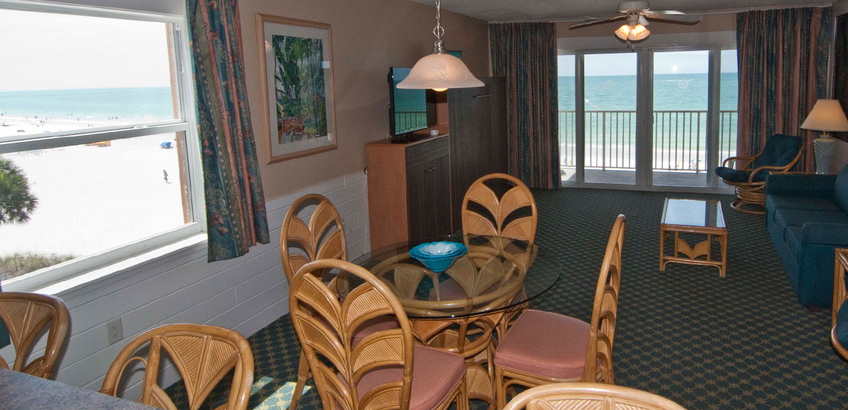 Hideaway Sands Resort offers comfortably furnished, well equipped Efficiency, Studio and Townhouse condominium units.